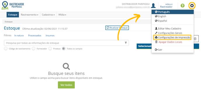 configuração de impressoras_acesso via menu-1