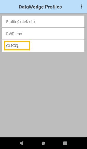 seleção do perfil do clicq