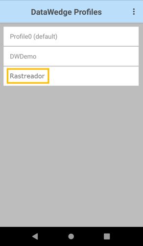seleção do perfil do rastreador